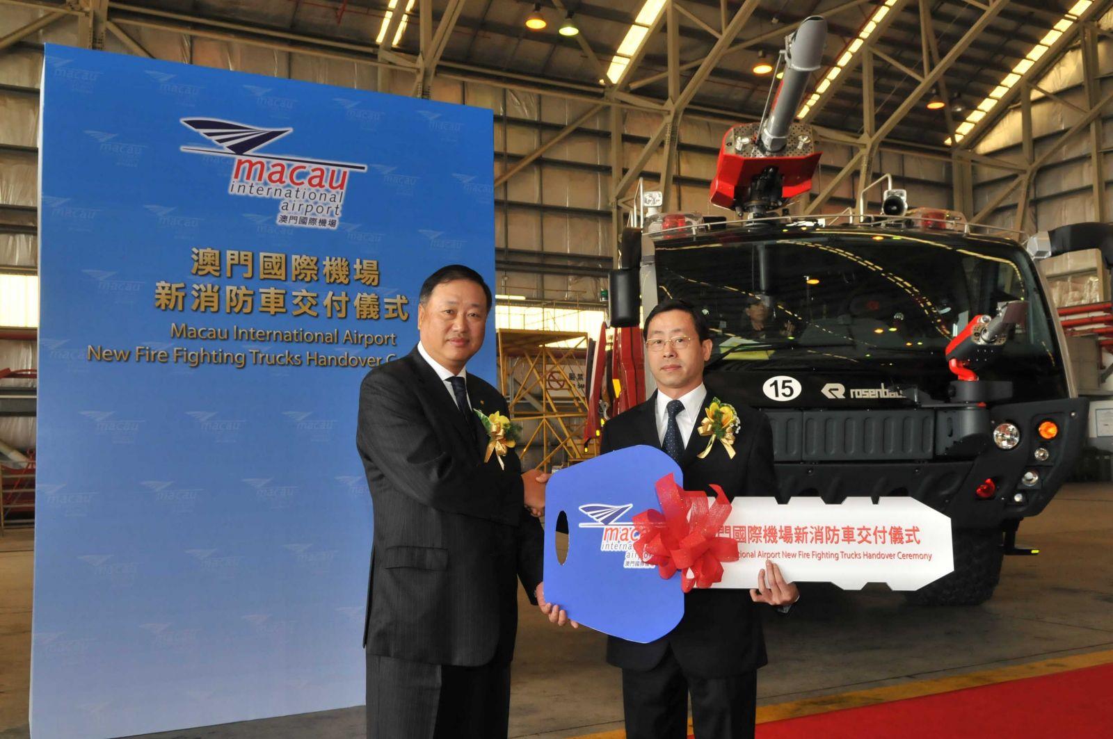 New Fire Fighting Trucks Handover Ceremony of Macau